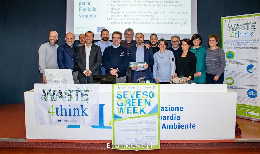Convegno finale del progetto Europeo Waste4Think con l'amministratore unico di Softline, ing. Gaetano Drosi