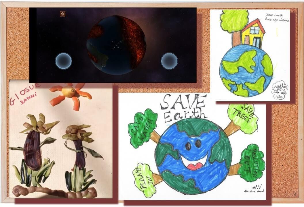 Giornata mondiale della terra: il collage dei bambini