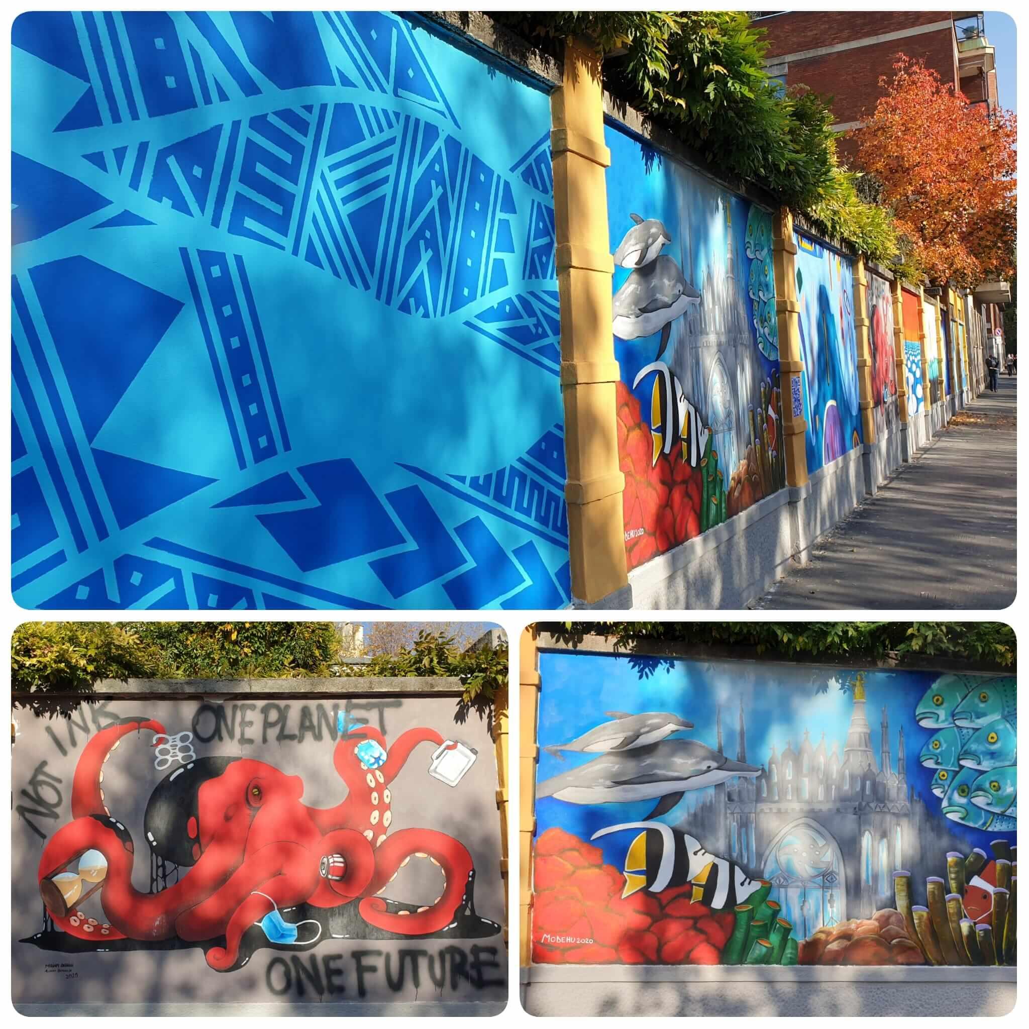 Murales a difesa degli oceani