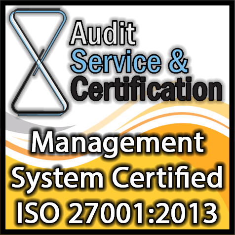Logo certificazione ISO 27001:2013