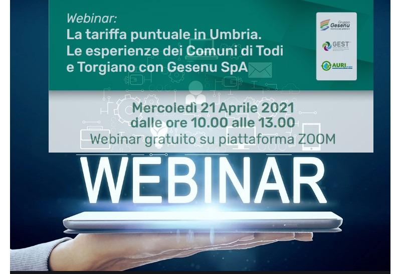 Webinar Gesenu sulle prime esperienze in Umbria di tariffa puntuale
